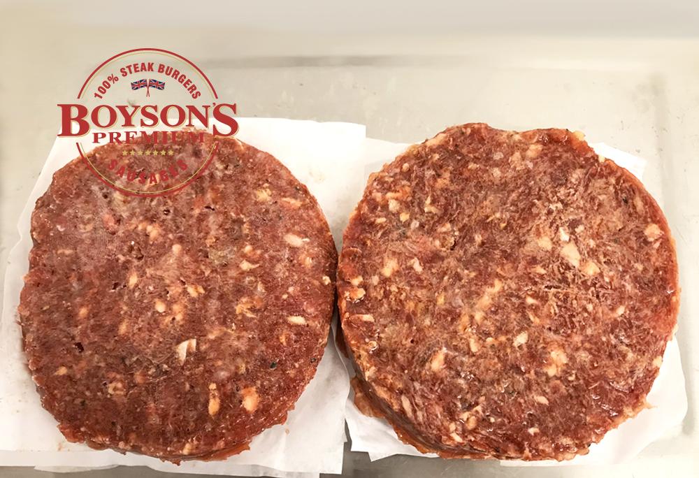 Boyson's Chilli Steak Burgers